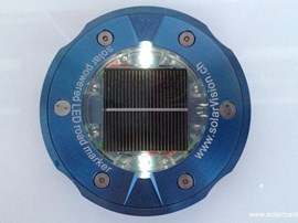 Solar road stud SV2 with stainless steel housing for heavy duty use
